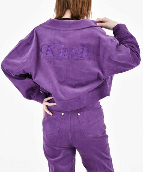 KIRSH(キルシー)の「【ZOZO限定】LOGO CORDUROY JACEKT/ロゴコーデュロイジャケット(ブルゾン)」 パープル