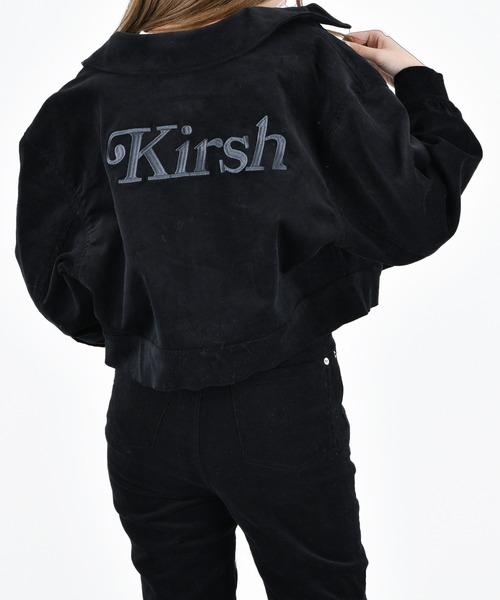KIRSH(キルシー)の「【ZOZO限定】LOGO CORDUROY JACEKT/ロゴコーデュロイジャケット(ブルゾン)」|ブラック