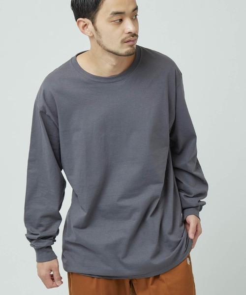 【FRUIT OF THE LOOM/フルーツオブザルーム】 Crew Neck Cut & Sew Cotton Long Sleeve
