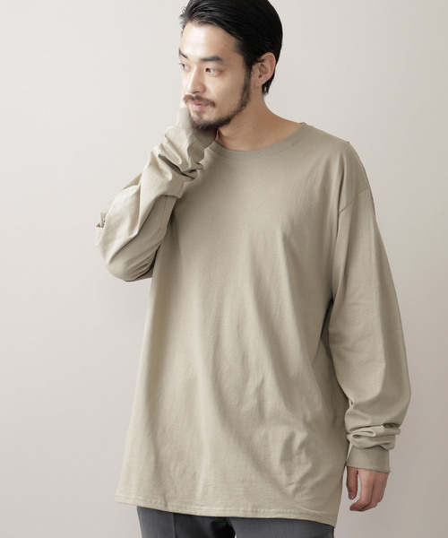 【FRUIT OF THE LOOM/フルーツオブザルーム】 Crew Neck Cut & Sew Cotton Long Sleeve
