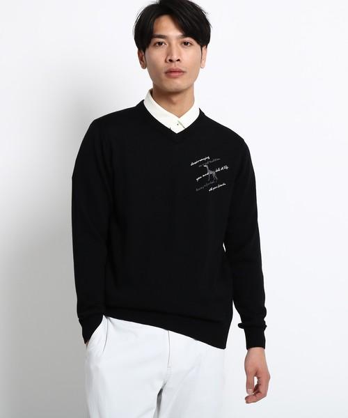 Vネック セーター メンズ