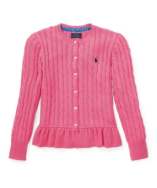 b3a26b450098ea ... トップス · ニット/セーター; アイテム詳細. Polo Ralph Lauren Childrenswear(ポロラルフローレンチャイルドウェア)の「コットン  ペプラム カーディガン