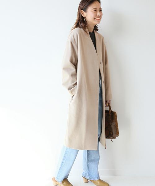 日本最大級 ウールビーバーノーカラーコート(その他アウター)|JOURNAL STANDARD STANDARD JOURNAL relume(ジャーナルスタンダード レリューム)のファッション通販, Callum shop:eed082b3 --- pyme.pe