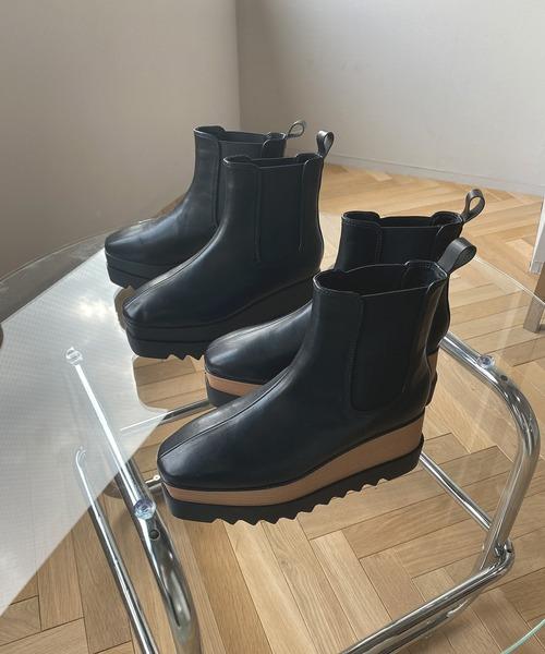 【chuclla】【2020/AW】Volume sole side gore boots chs98