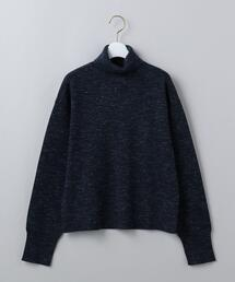 <6(ROKU)>COTTON WOOL RIB TURTLE NECK PULLOVER/ニット