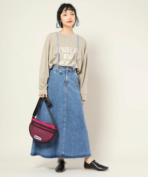 ▽SOMETHING × FREAK'S STORE/サムシング 別注Laceup skirt/別注レースアップスカート
