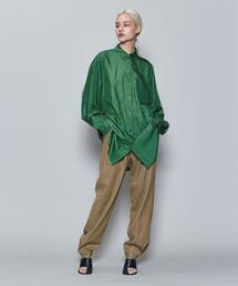 <6(ROKU)>NYLON SILK SHIRT/シャツ