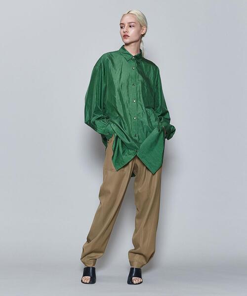 <6(ROKU)>NYLON SILK SHIRT/シャツ
