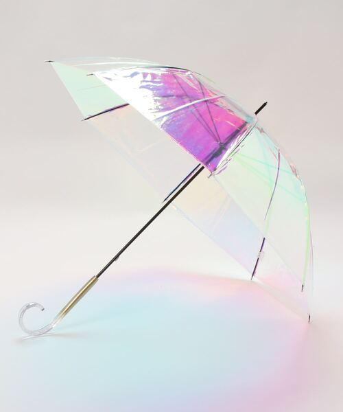 シャイニーアンブレラ  クリアアンブレラ オーロラ 傘 虹色 ビニール傘 OGW 21ORU