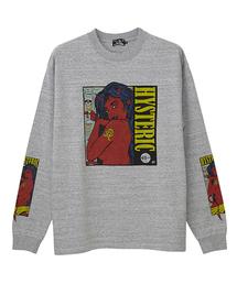 FRANK KOZIK/HYS 45RPM プリント リブ付Tシャツ