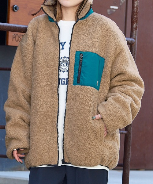 KANGOL/カンゴール別注 オーバーサイズ シープボアフリースジャケット