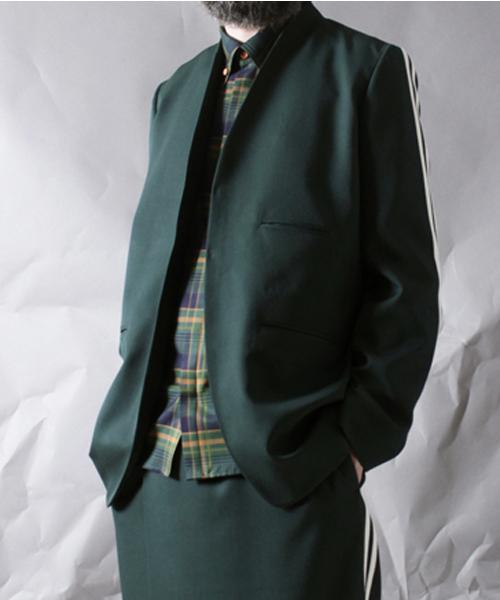 【年間ランキング6年連続受賞】 【ohta】 green/ & アンド brown jacket(ノーカラージャケット) brown|ohta(オータ)のファッション通販, MRM:101c7343 --- munich-airport-memories.de