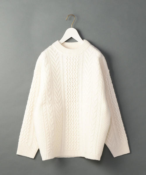 <6(ROKU)>CABLE HIGH NECK KNIT/ニット