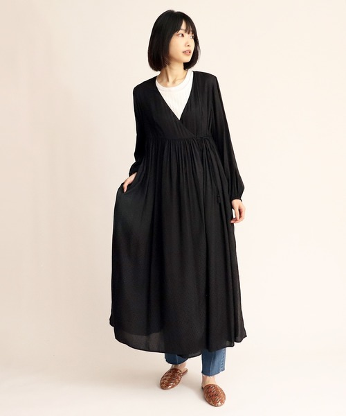 【ne Quittez pas/ヌキテパ】RAYON DOBBY GOWN