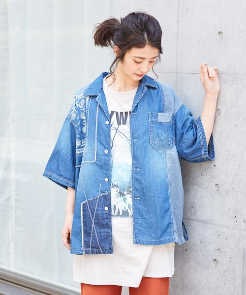 新しい到着 5オンスデニム オープンカラーシャツ, Rakuten BRAND AVENUE Men 0d2c0f2c