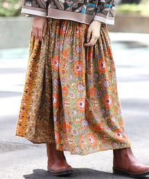 チチカカ(チチカカ)のメキシコパッチブロックプリント スカート(スカート)