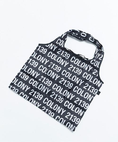 COLONY 2139(コロニートゥーワンスリーナイン)の「エコバッグ/サブバッグ(トートバッグ)」|ブラック系その他2