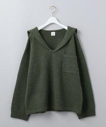 <6(ROKU)>WOOL CASHMERE SAILOR COLLAR KNIT/ニット