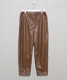<H>FAKE LEATHER VACANT EASY PANTS/パンツ