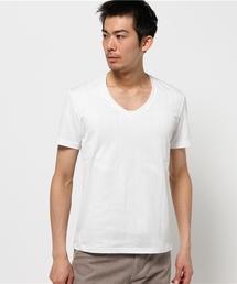 TORNADO MART(トルネードマート)のZero by TORNADO MART∴針抜きVネック半袖カットソー(Tシャツ/カットソー)