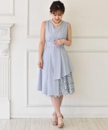 2cd06a1ed2039 MYRDAL(ミュルダール)の「裾レース切替ドレス(ドレス)」