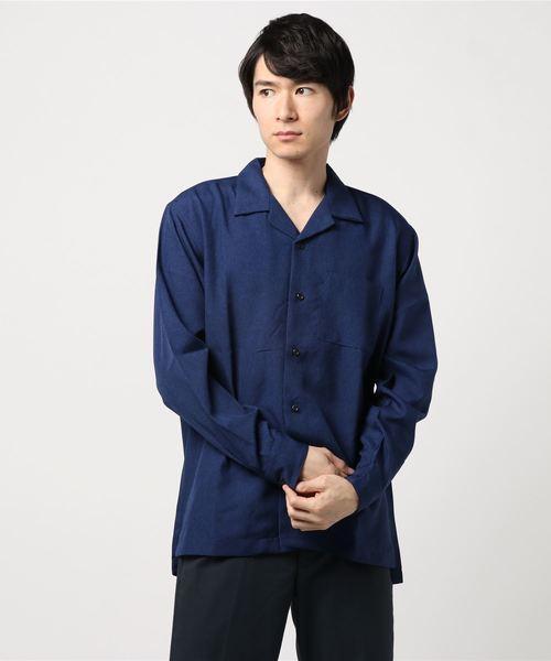 DETAILS/長袖オープンカラーシャツ