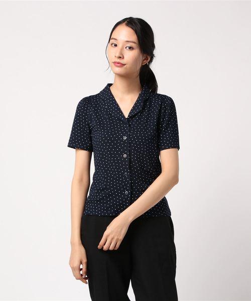 贅沢 JDF9 b. CHEMISE ドットプリントオープンカラーシャツ(シャツ/ブラウス) agnes|agnes b.(アニエスベー)のファッション通販, U-SQUARE next:831879dd --- dcripajk.gov.pk