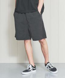 <H>BLACK DENIM SHORT PANTS/パンツ