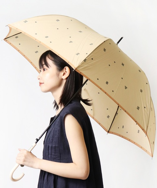 【 CONVERSE / コンバース 】 60㎝傘 長傘 ジャンプ式 雨傘 雨晴兼用 はっ水 CON-ST-60J OGW
