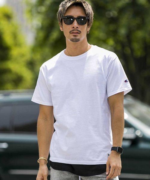 Champion×NoSweat.コラボ/定番コットンTシャツ