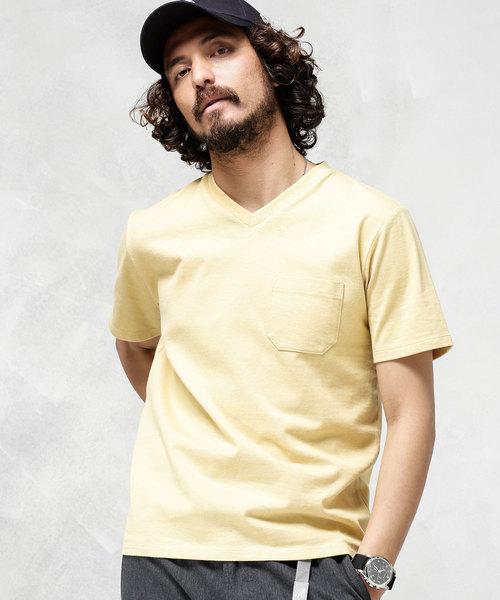 nano・universe(ナノユニバース)の古着「半袖Tシャツ(Tシャツ/カットソー)」|イエロー