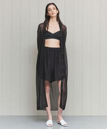<H>SHEER LONG CARDIGAN/カーディガン
