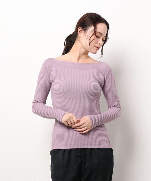 boat neck rib knit