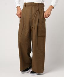 Edwina Horl/エドウィナホール/Cashmere Beaver Cargo Pants/カシミヤビーバーカーゴパンツ(パンツ)