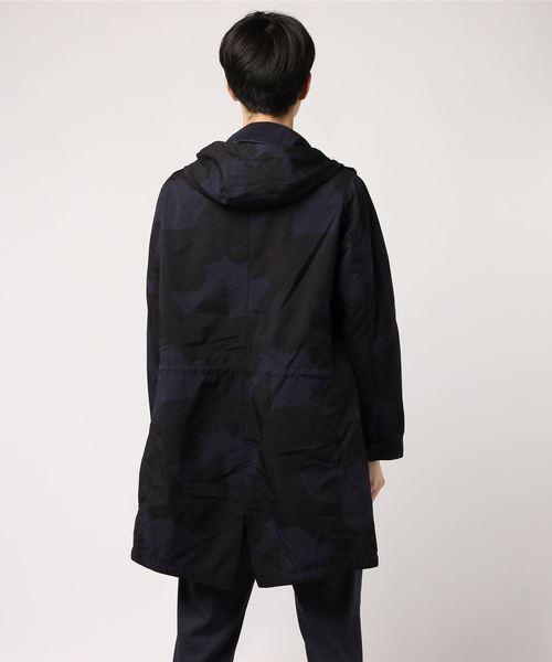 【小松マテーレ】×【PAZZO】 高密度クロス モッズコート カモフラージュ