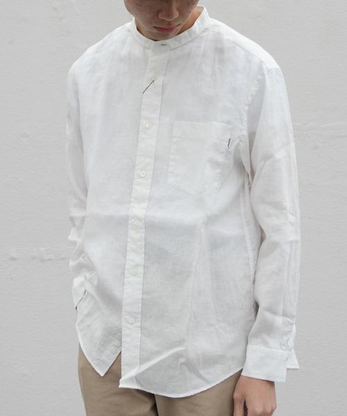 GYMPHLEX/ジムフレックス リネンクロスシャツ LINEN CLOTH SHIRT J-1352KLS