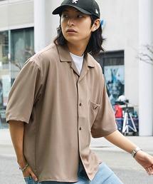 ▽WEB限定 KANGOL/カンゴール 別注 リラックスオープンカラーシャツ(1/2スリーブ) 2020ベージュ