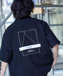 ▽WEB限定 KANGOL/カンゴール 別注 リラックスオープンカラーシャツ(1/2スリーブ) 2020ブラック系その他