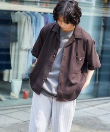 ▽WEB限定 KANGOL/カンゴール 別注 リラックスオープンカラーシャツ(1/2スリーブ) 2020グレー系その他