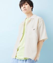 ▽WEB限定 KANGOL/カンゴール 別注 リラックスオープンカラーシャツ(1/2スリーブ) 2020ナチュラル