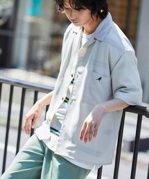 ▽WEB限定 KANGOL/カンゴール 別注 リラックスオープンカラーシャツ(1/2スリーブ) 2020ベージュ系その他