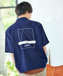 ▽WEB限定 KANGOL/カンゴール 別注 リラックスオープンカラーシャツ(1/2スリーブ) 2020ブルー系その他