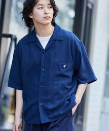▽WEB限定 KANGOL/カンゴール 別注 リラックスオープンカラーシャツ(1/2スリーブ) 2020ネイビー