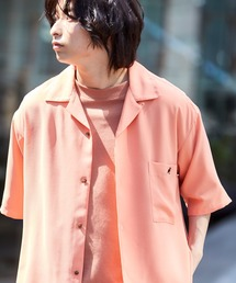 ▽WEB限定 KANGOL/カンゴール 別注 リラックスオープンカラーシャツ(1/2スリーブ) 2020オレンジ系その他