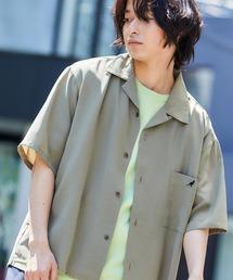 ▽WEB限定 KANGOL/カンゴール 別注 リラックスオープンカラーシャツ(1/2スリーブ) 2020オリーブ