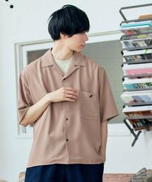 ▽WEB限定 KANGOL/カンゴール 別注 リラックスオープンカラーシャツ(1/2スリーブ) 2020ピンク