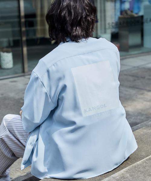 ▽WEB限定 KANGOL/カンゴール 別注 リラックスオープンカラーシャツ(1/2スリーブ)