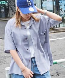 ▽WEB限定 KANGOL/カンゴール 別注 リラックスオープンカラーシャツ(1/2スリーブ) 2020ライトブルー