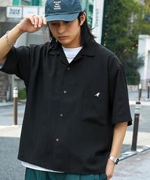▽WEB限定 KANGOL/カンゴール 別注 リラックスオープンカラーシャツ(1/2スリーブ) 2020ブラック