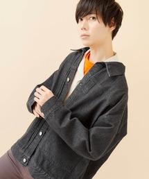 ビッグシルエットデニムジャケット(MONO-MART)ブラック